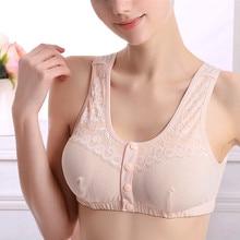 Vest Breast-Insert Underwear Mastectomy Lace Front-Buckle D-1002 4pcs Pocket-Bra Cancer