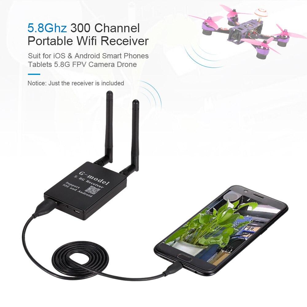 G-modèle 300CH Portable FPV WIFI 5.8G Transfert WIFI Transmission Récepteur pour IOS Android Mobile téléphone iPad Caméra Avion sans pilote