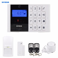 Wireless GSM SMS Intercom Monitor Security Home Alarm System LCD Screen Two Way SOS Talking Alarm