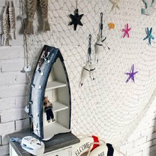 HOT Big Fishing Net Decoration Home Decoration Wall Hangings Fun The Mediterranean Sea style Wall Stickers PC673216