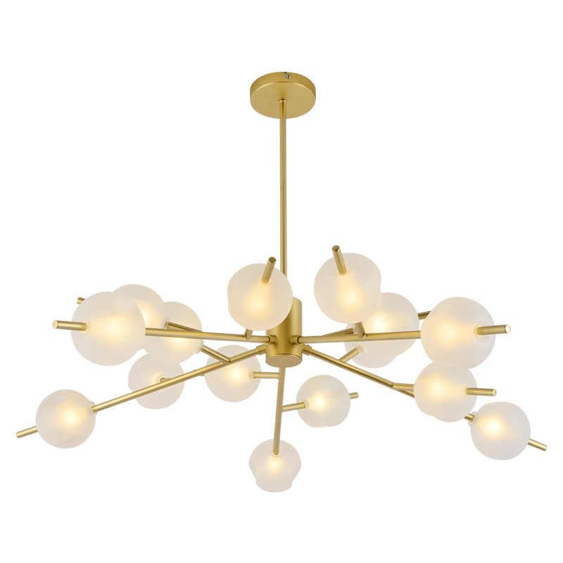 Популярный новый светодиодный светильник-люстра черный/золотой Mamame Art Роскошный домашний светильник для гостиной, спальни, кабинета, столовой