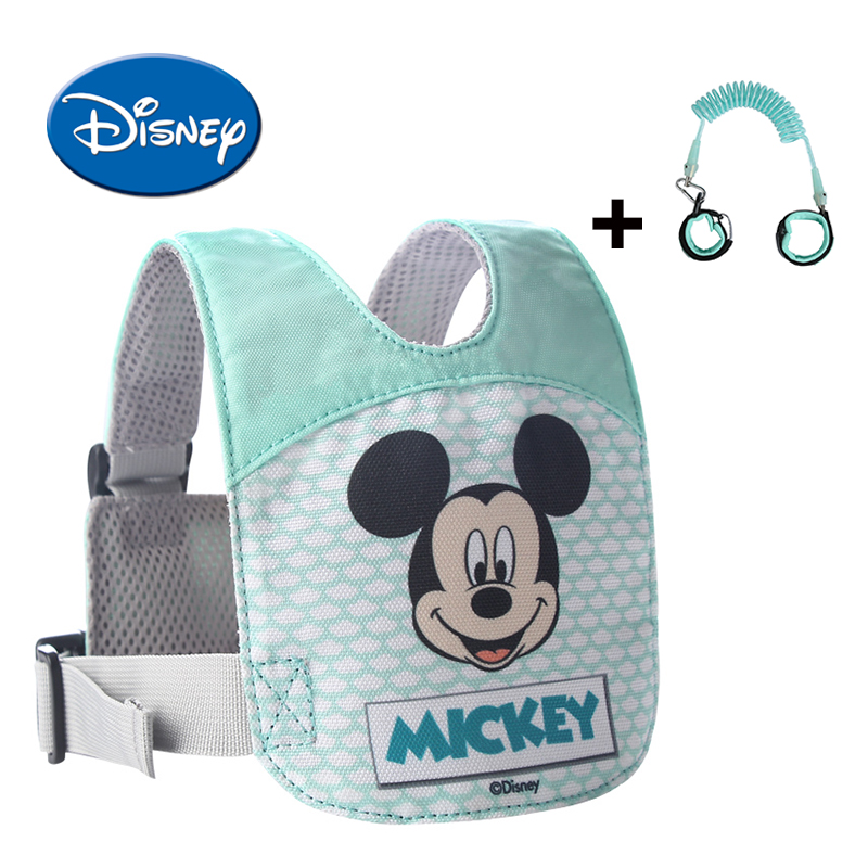 Disney Anti Lost Wrist Leash Baby Safety Backpack Breathable Walking Harness Adjustable Toddler Wristband Walking Assistant yourhope baby toddler harness safety learning walking assistant blue
