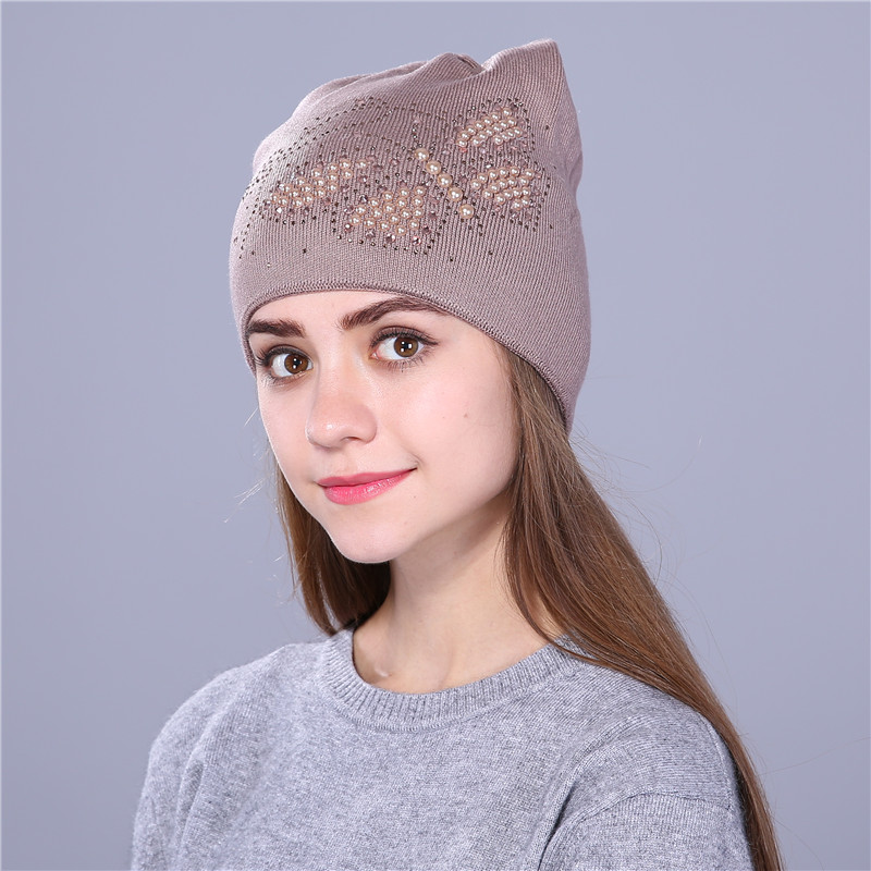 c821d81a3 US $7.64 48% OFF|Xthree Autumn winter hat for women knitted beanies hat cat  ear stylish cap Butterfly 2017 new fashion lovely cap-in Skullies & ...