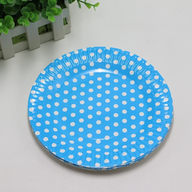 Polka Dot Paper Plates 10 pcs/lot