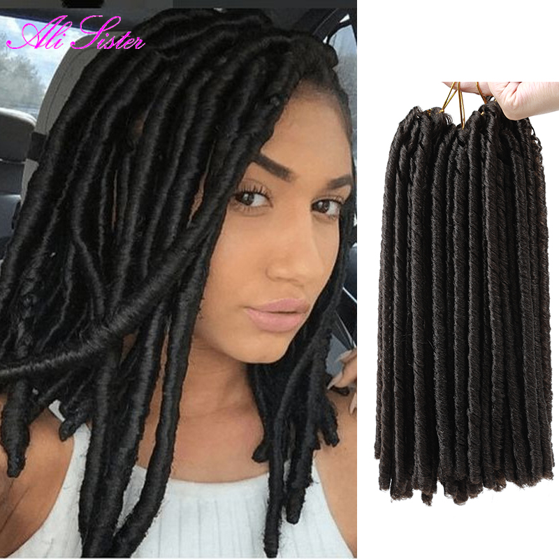 Aliexpress.com : Buy faux locs crochet hair ombre braiding hair ...
