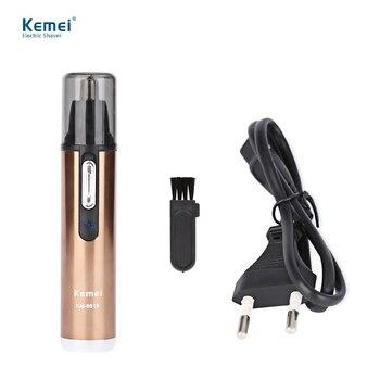 Kemei km-6619 моющиеся электрический бритья волос в носу триммер безопасно Уход За Кожей лица для Бритья Триммер Для Носа Тример для Мужчины и Женщины