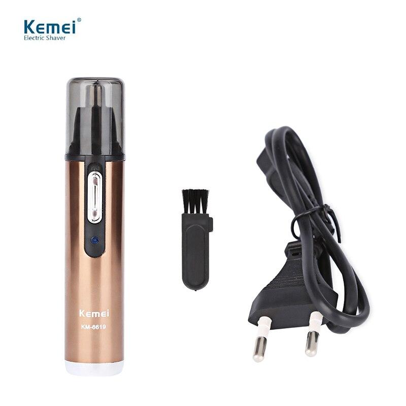 Kemei moda eléctrica de afeitar el cabello seguro Cara Cuidado afeitar trimmer para la nariz