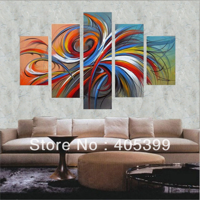 Modern Apartment Home Decoration Painting Wall Art ,Real Handmade ...