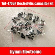 120 шт. 12 значение 1 мкФ-470 мкФ электролитический конденсатор Вышивка Крестом Пакет электролитический конденсатор комплект 1 мкФ 2.2 мкФ 3.3 мкФ 4.7 мкФ 10 мкФ 22 мкФ 33 мкФ 470 мкФ