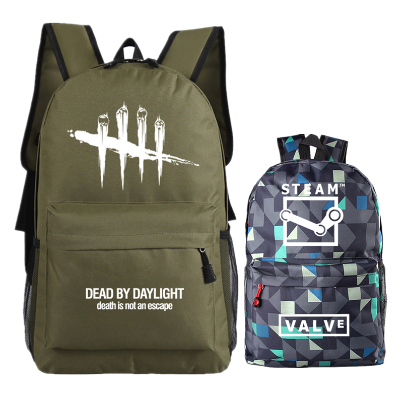 New Steam Game Dead By Daylignt Unisex Printing Backpack Canvas Women School Bags Student Laptop Backpack Men Travel Bags