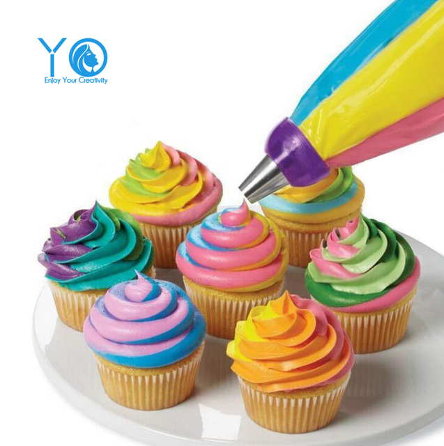 three color coupler cake decorating tools medium cupcake decorating tip converter cake tools - Cupcake Decorating