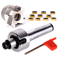 MT3 FMB22 M12 Shank 400R 50 22 Face Milling CNC Cutter 10pcs APMT1604 Inserts For Heavy