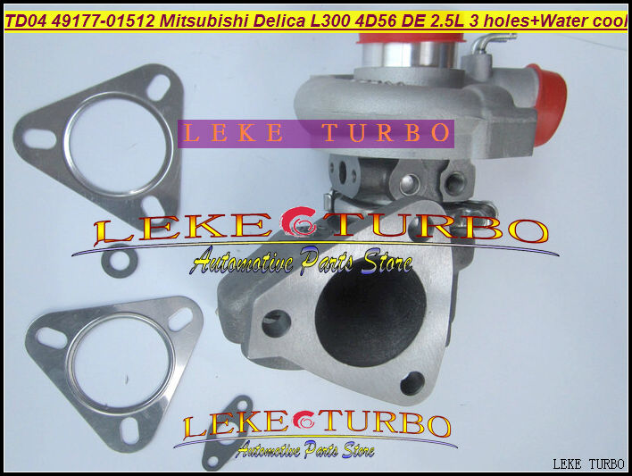 Free Ship TD04-10T 49177-01512 49177 01512 4917701512 Turbo For Mitsubishi Delica L300 4D56T 4D56 DE 2.5L 3 hole + Water cooled ветровики skyline mitsubishi delica space gear l 400 94 комплект 2 шт