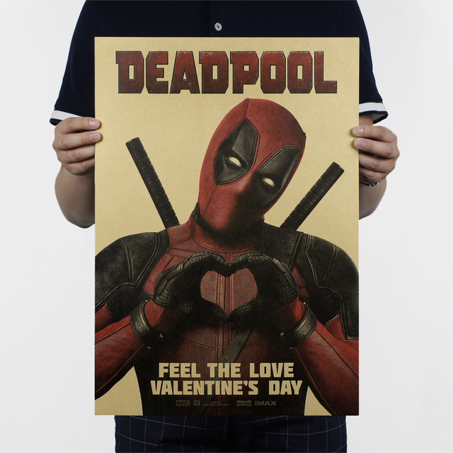 P Flame Deadpool Wall Sticker Feel The Love Valentine S Day Letters