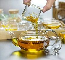 Beste Preis Hitzebeständigem Glas Teekanne Blume Tee Puer Wasserkocher Kaffee Teekanne Bequem Mit Infuser Office Home Teaset