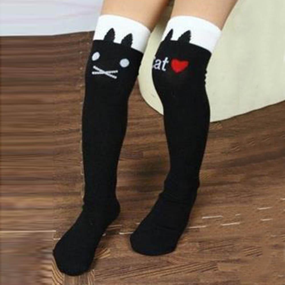 Toddler Kids Girls Cotton Knee High Socks Striped knee girls Straight Colorful Socks QL colorful striped high waist dress
