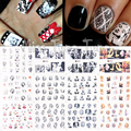 1pcs 12 Sheets/Lot Large Nail Art Water Transfer Water Decal Stickers Tips Sexy Famous Star Marilyn Monroe Costume Party Nails