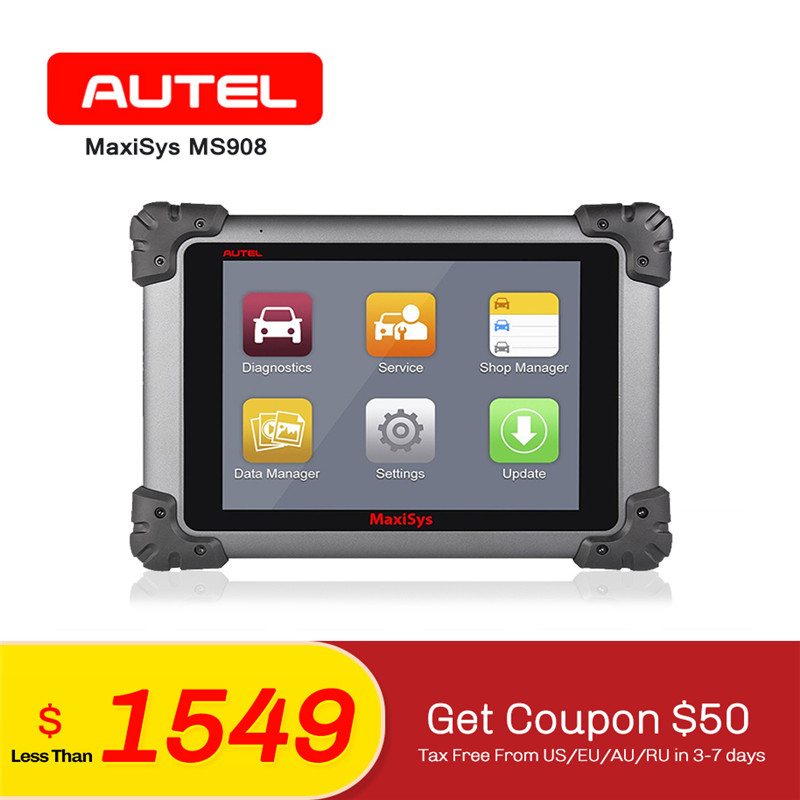 AUTEL MaxiSys Pro MS908 OBD2 Fault Code Reader Auto ECU Coding Car same as MY908 Key Programming Diagnostic Reset AL319 for Gift