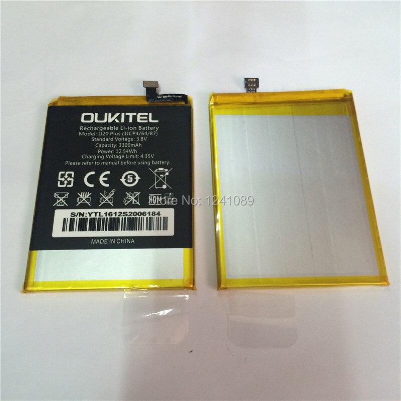 100% d'origine batterie OUKITEL U20 plus la batterie 3300 mAh 5.5 pouces MTK6737T + démonter outil