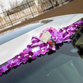 2017 NEW Simulation silk flowers car decora car roof garland wedding decoration 4 colors