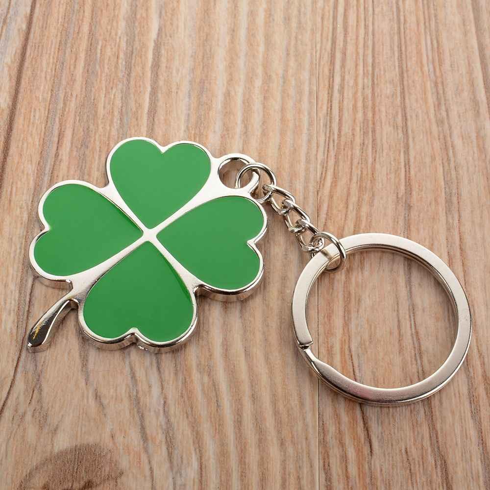 ISKYBOB креативный зеленый цвет четырехлистный клевер брелок-амулет сумочка на длинной ручке аксессуары