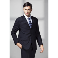 2017 Hot Sale Smoking Navy Nlue Men Tuxedos Wedding Suits For Three Buttons Slim Fit Notched Lapel Grooms Suit (jacket+pant)