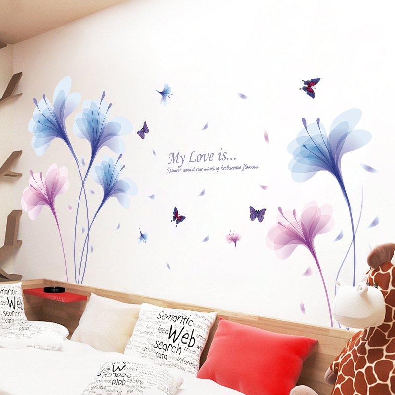 Online Shop Dream Orchids Wall Sticker D Butterfly Wall Decals - Butterfly wall decals 3d