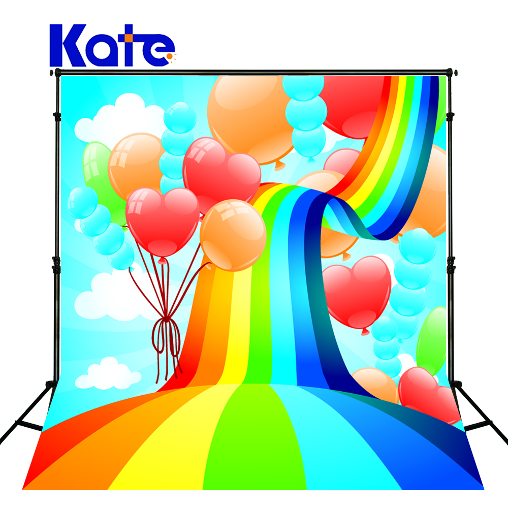 KATE Valentines Day Backdrops Photo Background Rainbow Backdrop Cartoon Children Photography Backdrops for Photocall Newborn kate dry land photography backdrops land photography background retro children custom backdrop props for newborn photo shoot