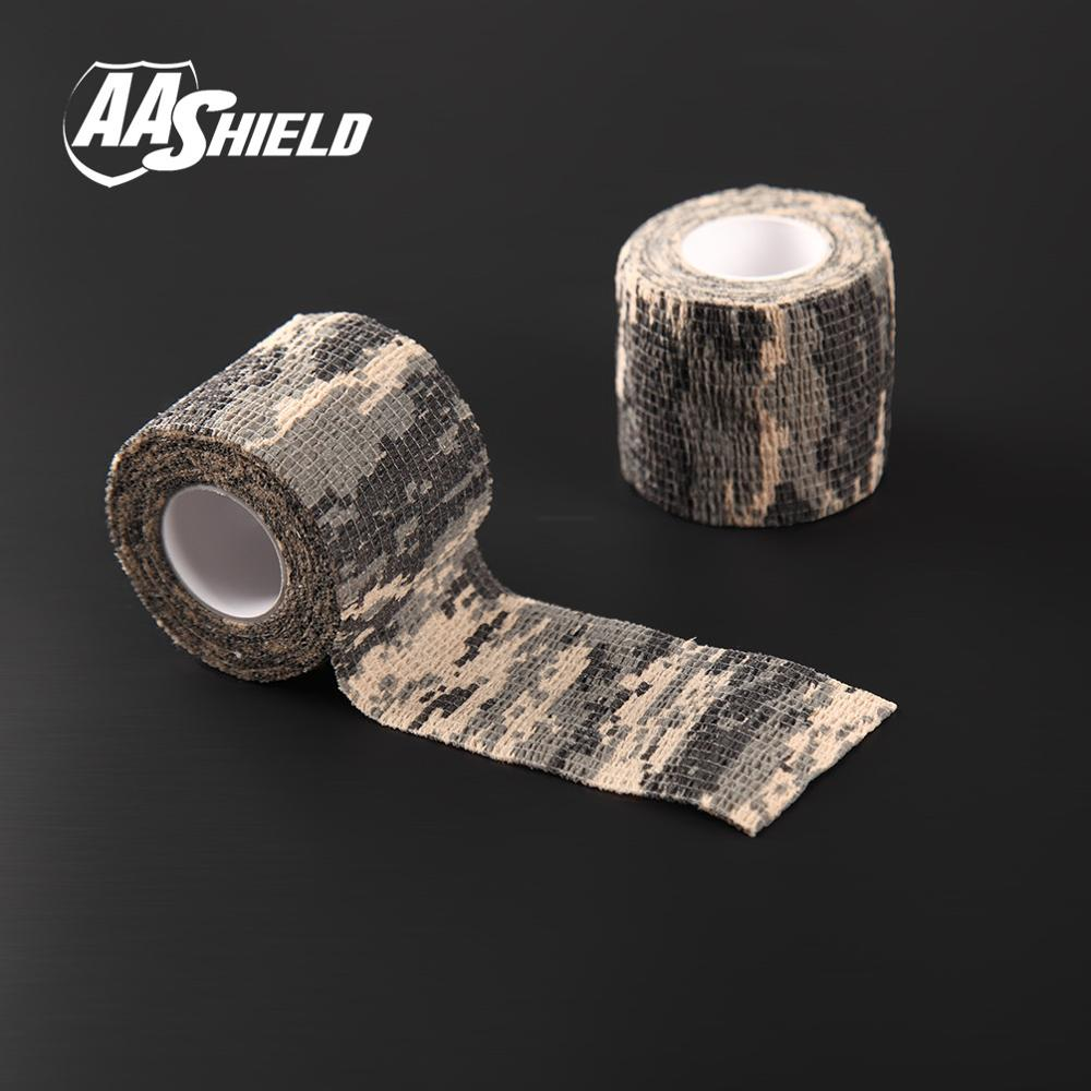 AA Shield Outdoor Camping bandage Camo Tape Military Rifle Covert Adhesive multicolor / Gun ACU 3PCS Free Shipping aa shield outdoor camping bandage camo tape military rifle covert adhesive multicolor gun black