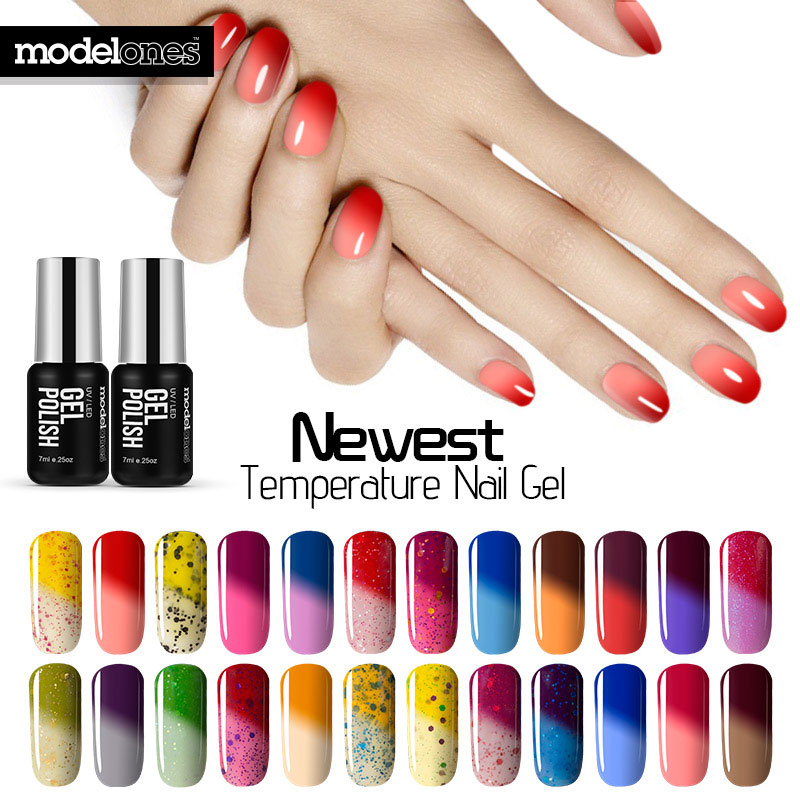 Aliexpress Com Buy Modelones 7ml Thermal Temperature Change Color Nail Gel Polish Soak Off Uv