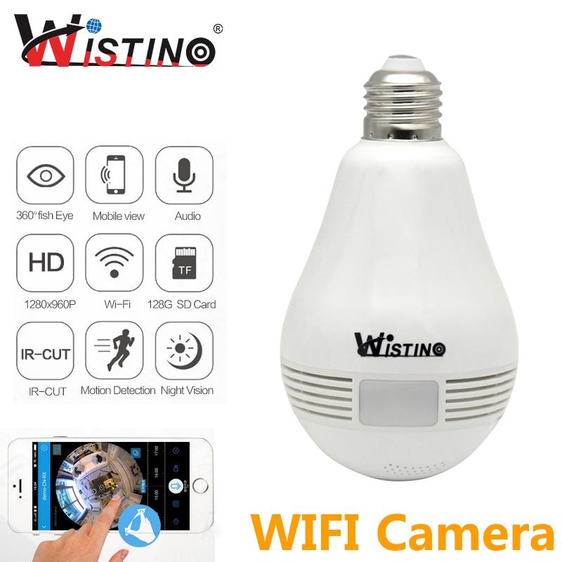 imágenes para 960 P Wireless IP Panorámica VR Cámara Bombilla Wifi CCTV de la Seguridad Casera de Vigilancia de 360 grados de ojo de Pez Wistino Envío gratis