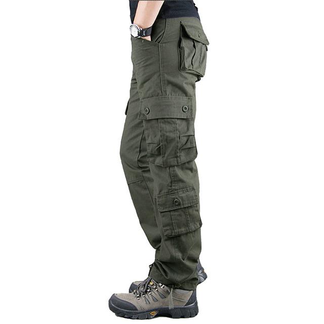 2020 Spring Winter Military Pants Men Khaki Cargo trousers Casual Cotton Tactical Pants Men Big Size Army Overol Hombre
