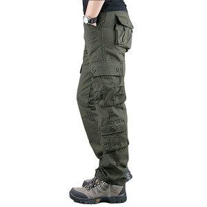 Image 3 - 2020 primavera Mens Cargo Pantaloni Kaki Militare Degli Uomini di Pantaloni Casual Cotone Pantaloni Tattici Degli Uomini di Grande Formato Army Pantalon Militaire Homme