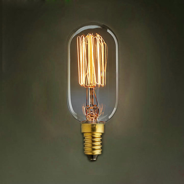 LightInBox Livraison Gratuite E14 T45 40 W E14 Rétro Edison Ampoule AC 220 V Pour Salon Vintage Ampoule À Incandescence ampoule