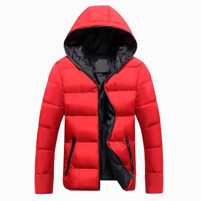 Jackets New Winter Casual Outwear Slim Fit Hooded Fashion Overcoats Plus Size 1