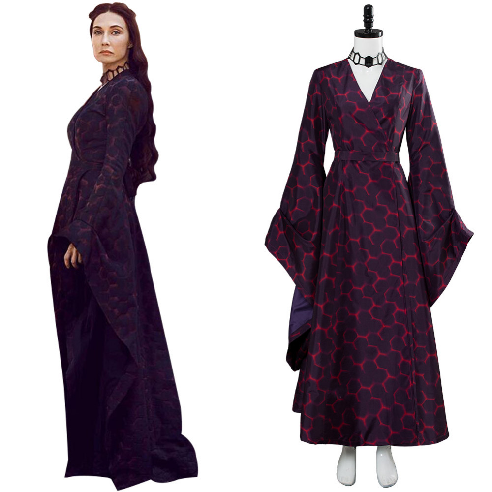 GoT Costumes Game Of Thrones The Red Woman Melisandre Cosplay Outfit Suit Dress