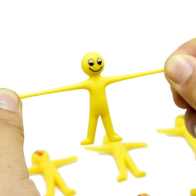 Enchimentos Pinata 10 Pcs Favor de Partido Do Chuveiro Do Bebê Decoração Do Escritório Brinquedos Das Crianças Pode Puxar o Corpo Emoji Fantoche Presente Da Lembrança Batismo presente