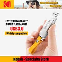 Kodak USB 3.1 K133 128gb usb flash drive 256gb mini Pen Drive 16gb USB 3.0 Bastone di 32gb del Metallo Memory stick 64gb