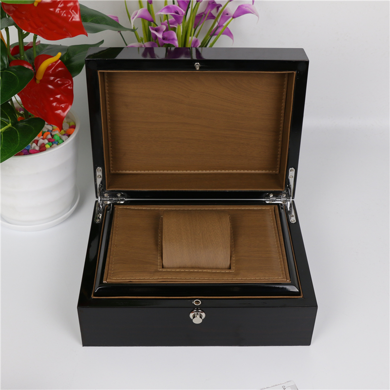Top Wood Watch Box Classic Black High Light Wooden Watch Storage Box Fashion Watch Display Jewelry Gift Cases A032 russia s old elm purple yu pure real wood double box box jade jewelry bracelet receive a cassette of the lock