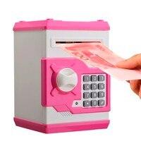 2016 Cute Design Metal Piggy Money Telephone Booth Kids Coin Saving Pot Box