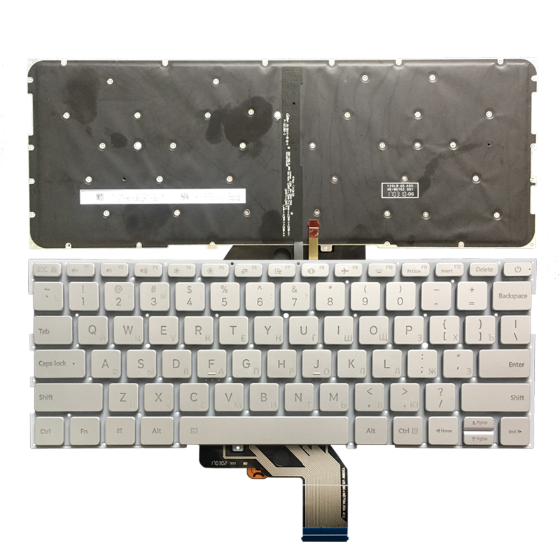 Russian Backlit Laptop Keyboard For Xiaomi MI Air 13.3 Inch 9Z.ND7BW.001 MK10000005761 490.09U07.0D01 With Palmrest Upper Cover