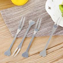 3pcs Exquisite Stainless steel coffee Dessert Fork Kitchen Snacks Cake Fruit Salad tableware Tool for party flatware 3