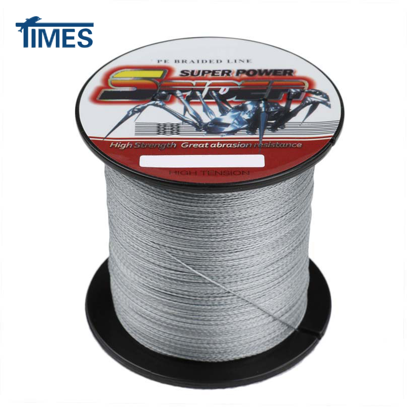 Grey 300m 50lb 4strand fishing braid steel wire power for 20 lb braided fishing line