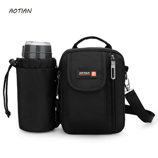 AOTIAN Retro Soft Waterproof nylon Men Small Shoulder Bag Travel Crossbody  Bags Male messenger bag for man c7f5ce38a6097