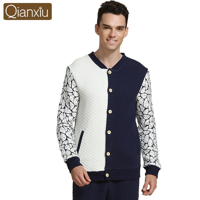 2018 Autumn Brand homewear Couples Casual striped Pajama sets Men Cotton  Sleepwear suit Male Long sleeve ... 09cee41d2