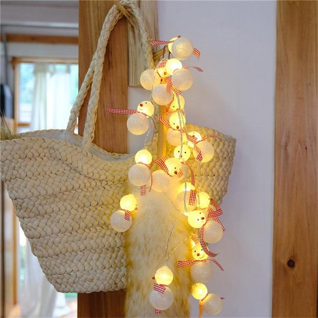Meters Diy Wedding Decoration Mini Lamp Snowman Pattern Creative Lighting Chains Bedroom