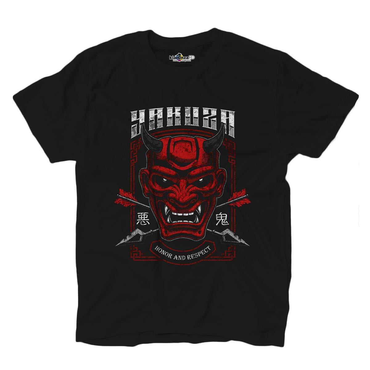 KiarenzaFD T-Shirt Yakuza Honor Respect Gokudo Japanese Mob Gangs Black Shirts Summer Style Hip Hop Men T Shirt Tops Tee