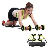 New Ab Roller Wheel with Mat Abdominal Trainer Wheel Arm Waist Leg Exercise Multi functional Fitness Equipment Exercise