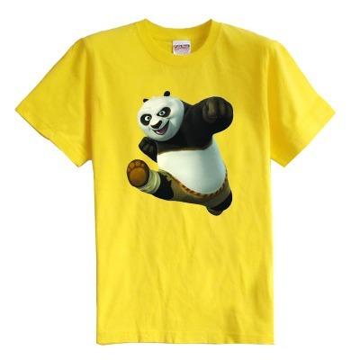 Kung Fu Panda das crianças T shirt do verão de manga curta roupa do bebê 100% algodão menino camiseta menina miúdo