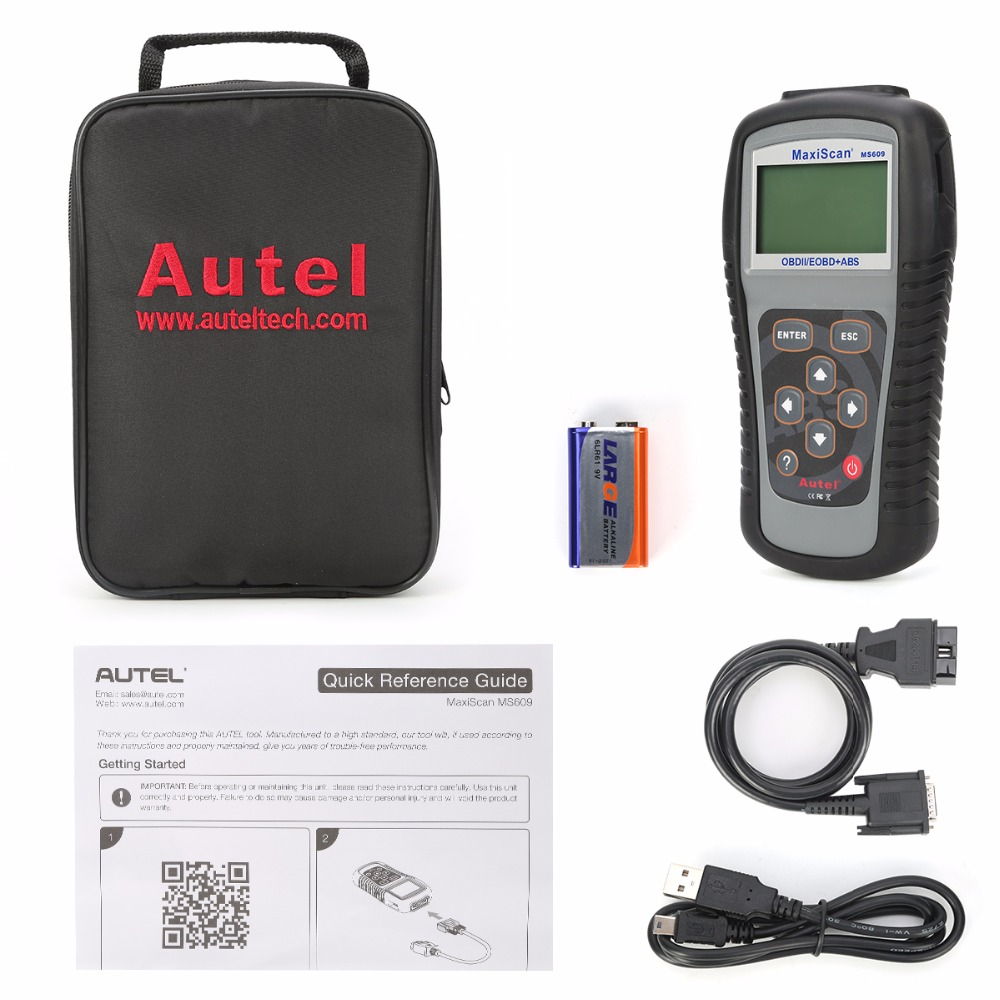 Image 4 - Autel Maxiscan MS609 OBD2 Scanner Code Reader with Full OBD2 Functions ABS Diagnostics DTC Definitions Advanced of MS509 & AL519 on
